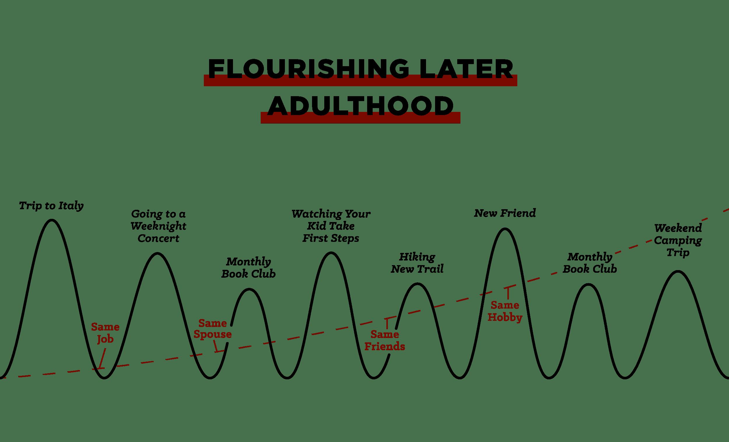 "Graph of ""Flourishing Later Adulthood""."
