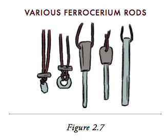 Illustration of a Ferrocerium rods.