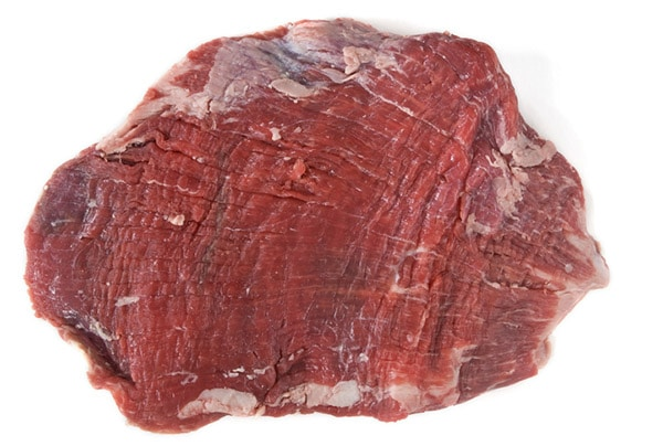 Flank uncooked steak.