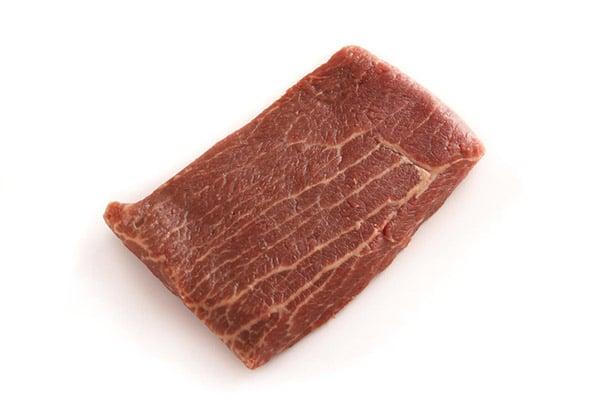 Flat Iron uncooked Steak.