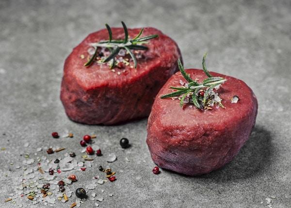Tenderloin steak with toppings.