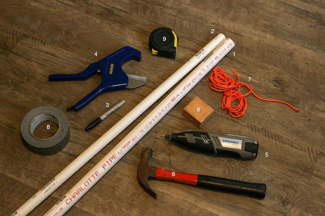 Supplies tool on a floor.