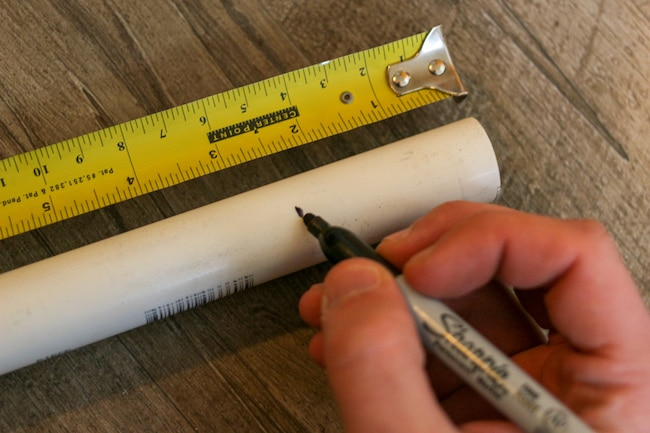 Measurements taken with pen and measurement tape.