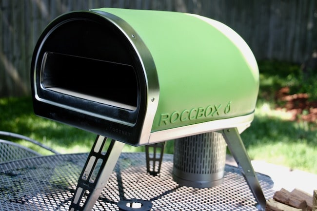 Outer look of Roccbox pizza oven.