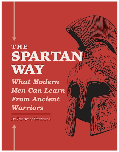 The Spartan way book with ancient war hat poster.