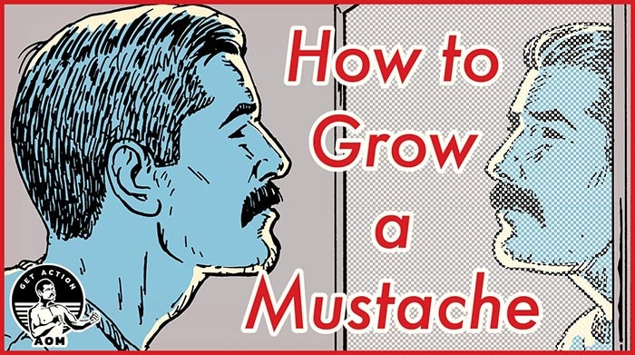 Man showing how to grow mustache.