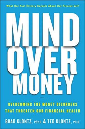 Mind over money by brad klontz book cover.