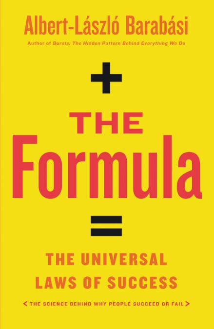 The formula by Albert Laszlo Barabasi book cover.