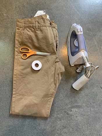 Material to make a shorts from pant.