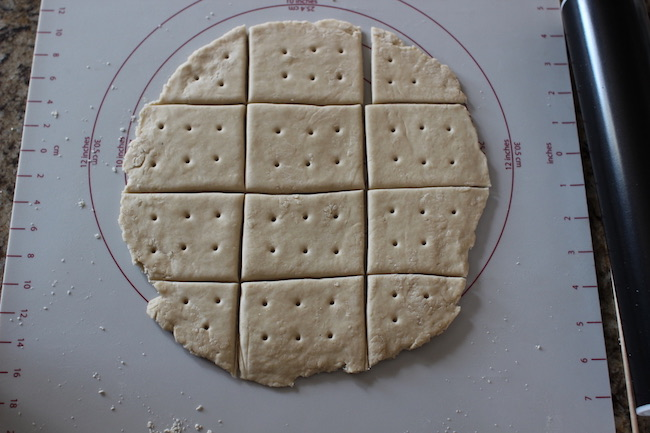 Crackers with holes.
