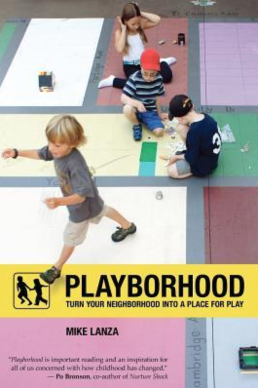 """Playborhood"" by Mike Lanza book cover."