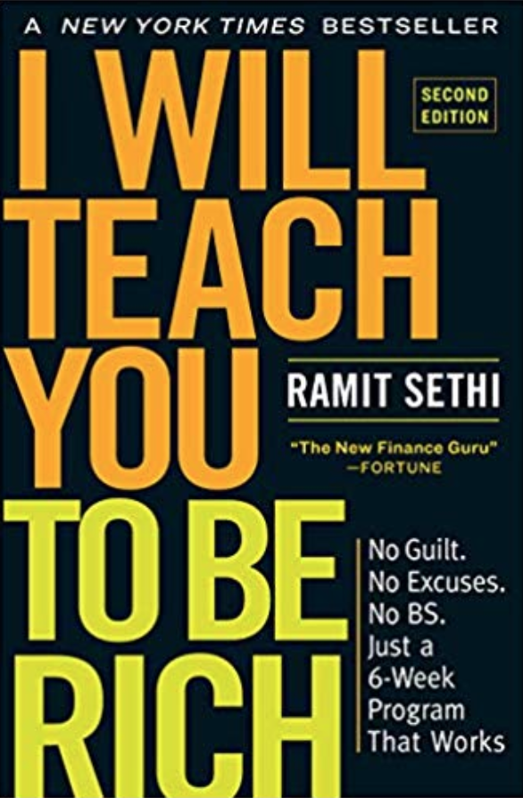 I will teach you to be rich book cover by Ramit Sethi.