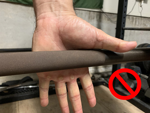 How to properly grip barbell.