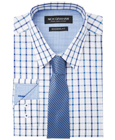 Windowpane dress shirt.
