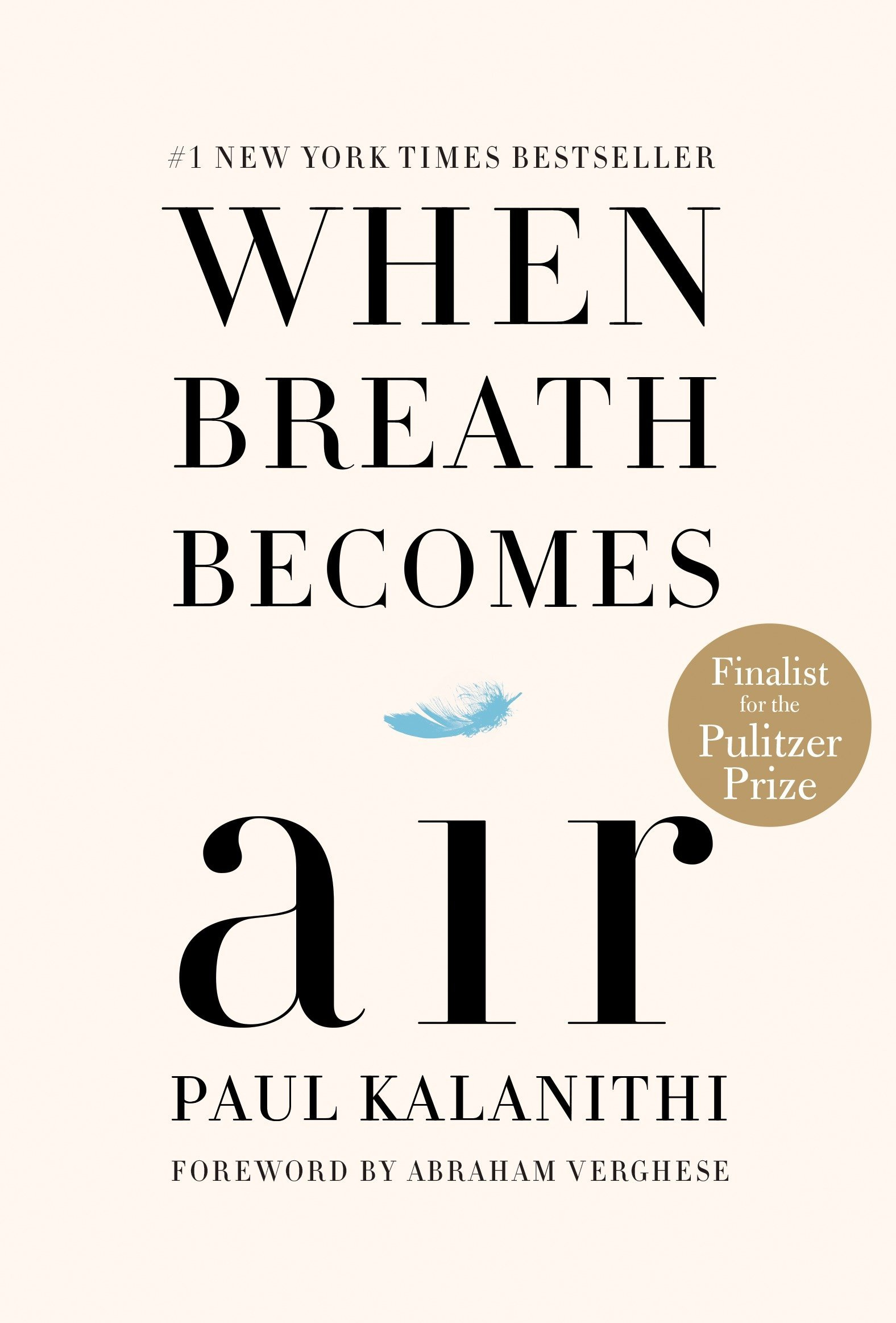 """'When Breath Becomes Air"""" by Paul Kalanithi book cover."""