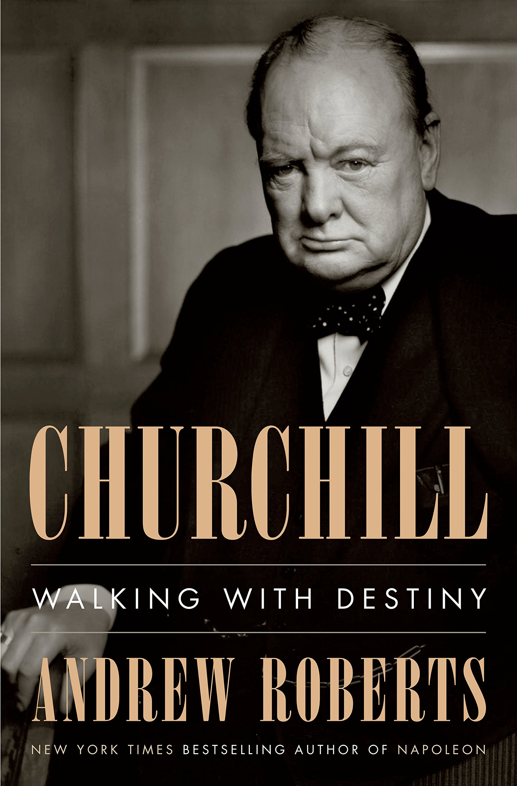 Churchill walking with destiny book cover by Andrew Roberts.