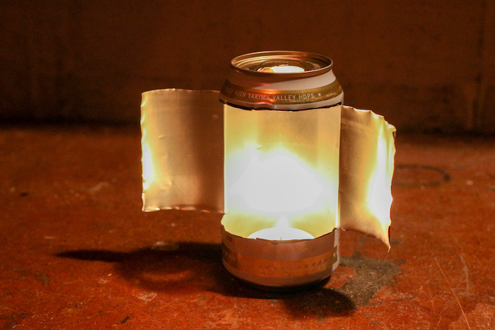 Step 4: Insert candle in the can.