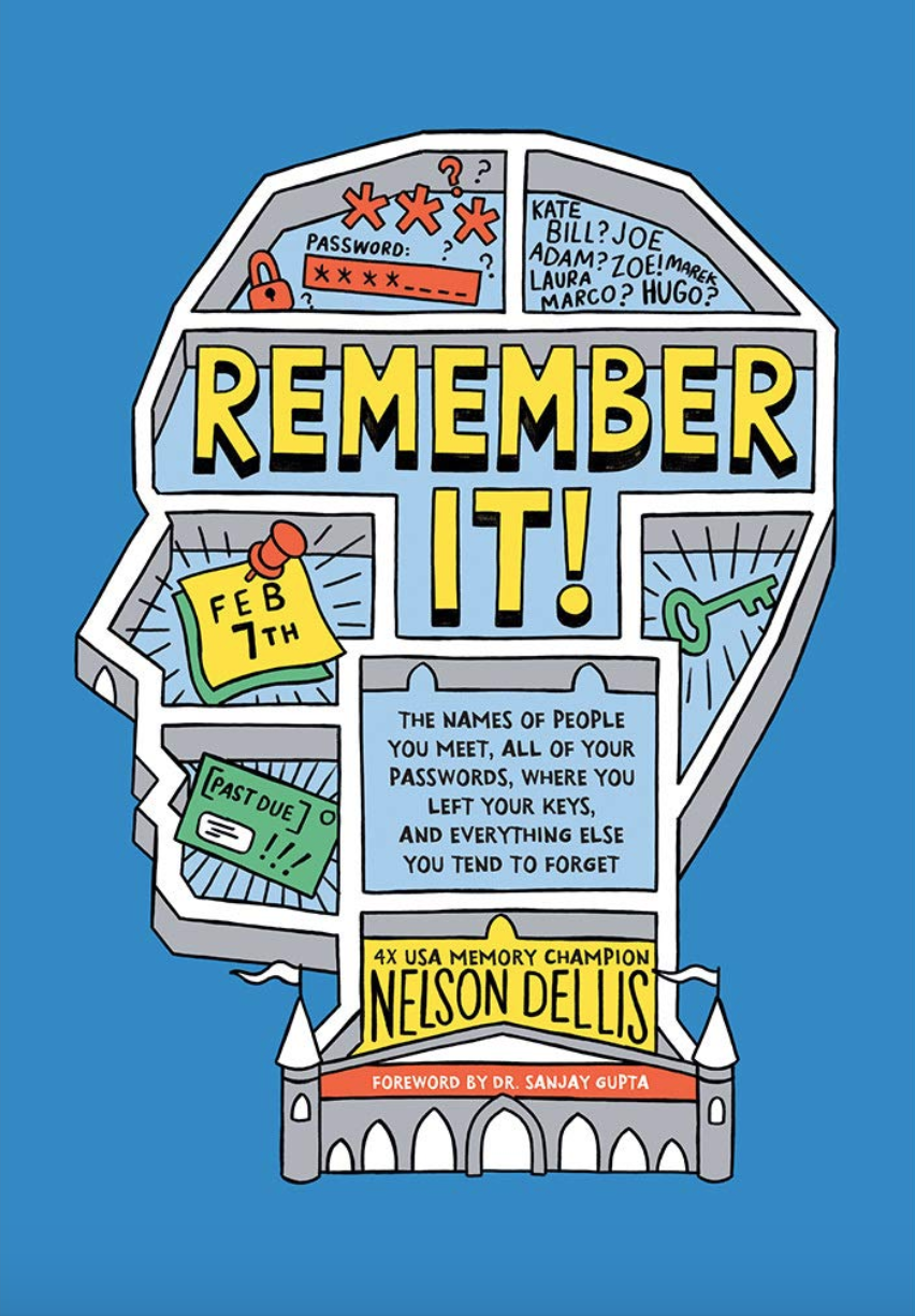 """Remember It"" book cover nelson dellis."