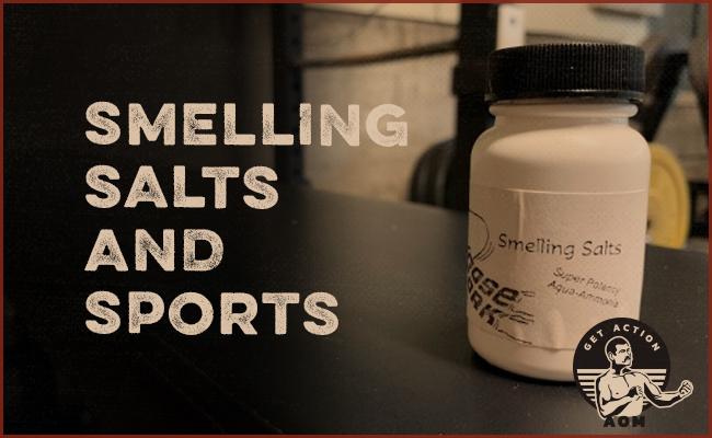 Smelling salts in a bottle.