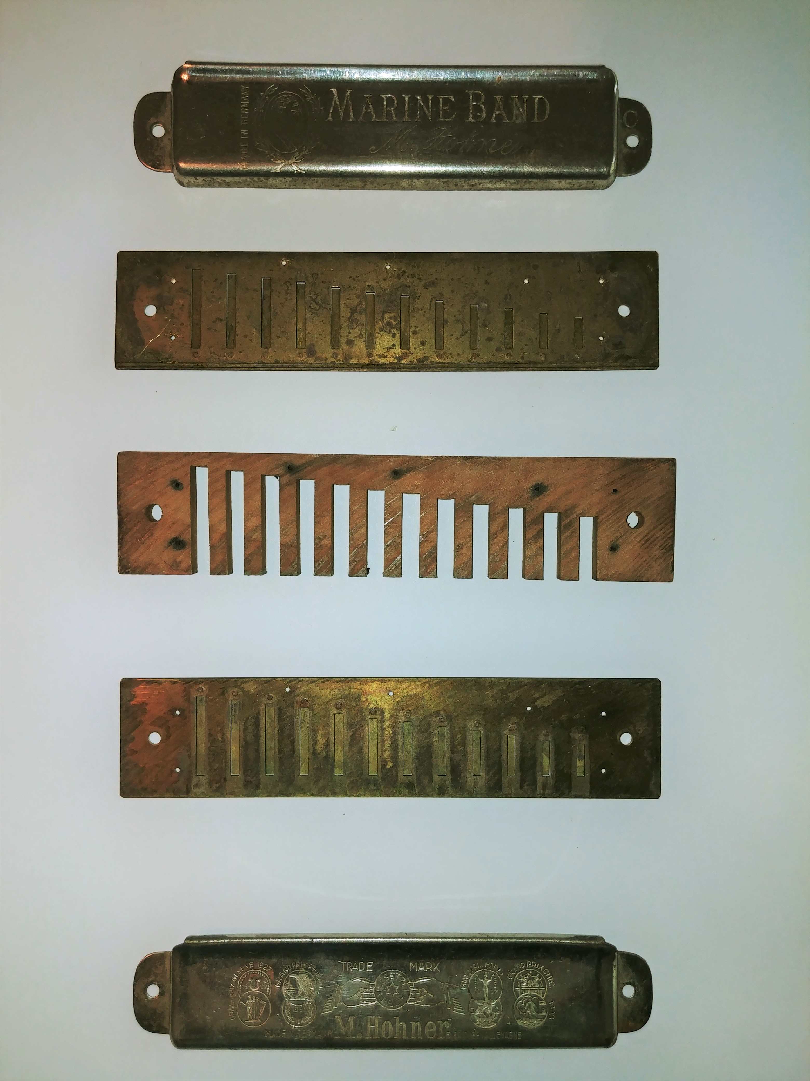 Parts of a Harmonica.