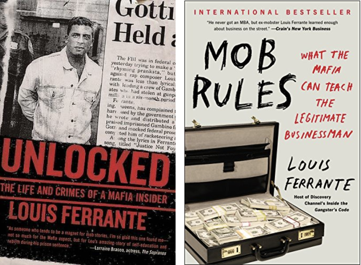 Unlocked and Mob Rules book cover Louis Ferrante.
