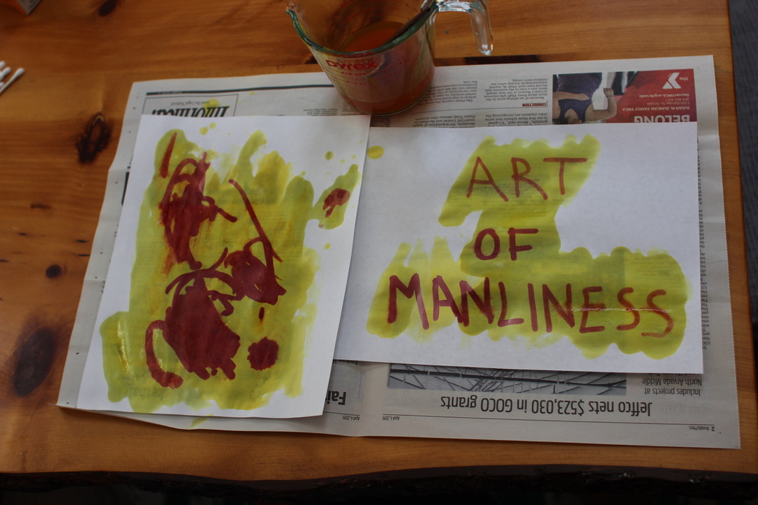 Art of Manliness with invisible ink.