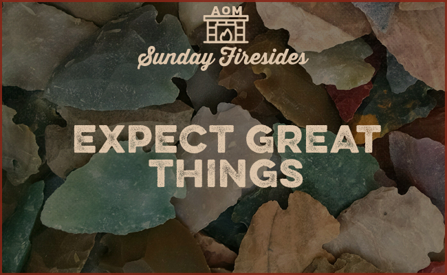 Expect great things Thoreau quote.