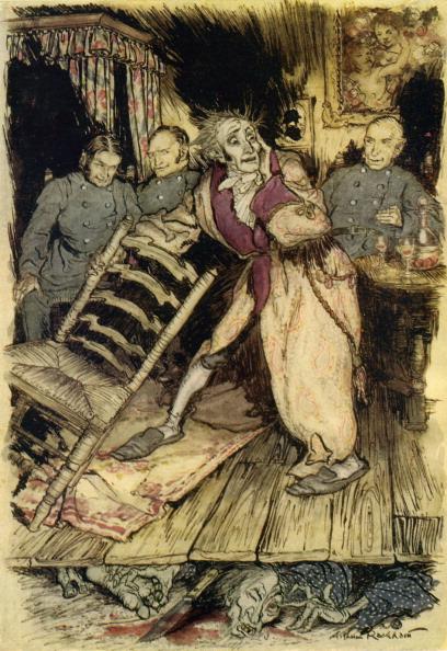 Illustration in The Tell-Tale Heart by Edgar Allan Poe.
