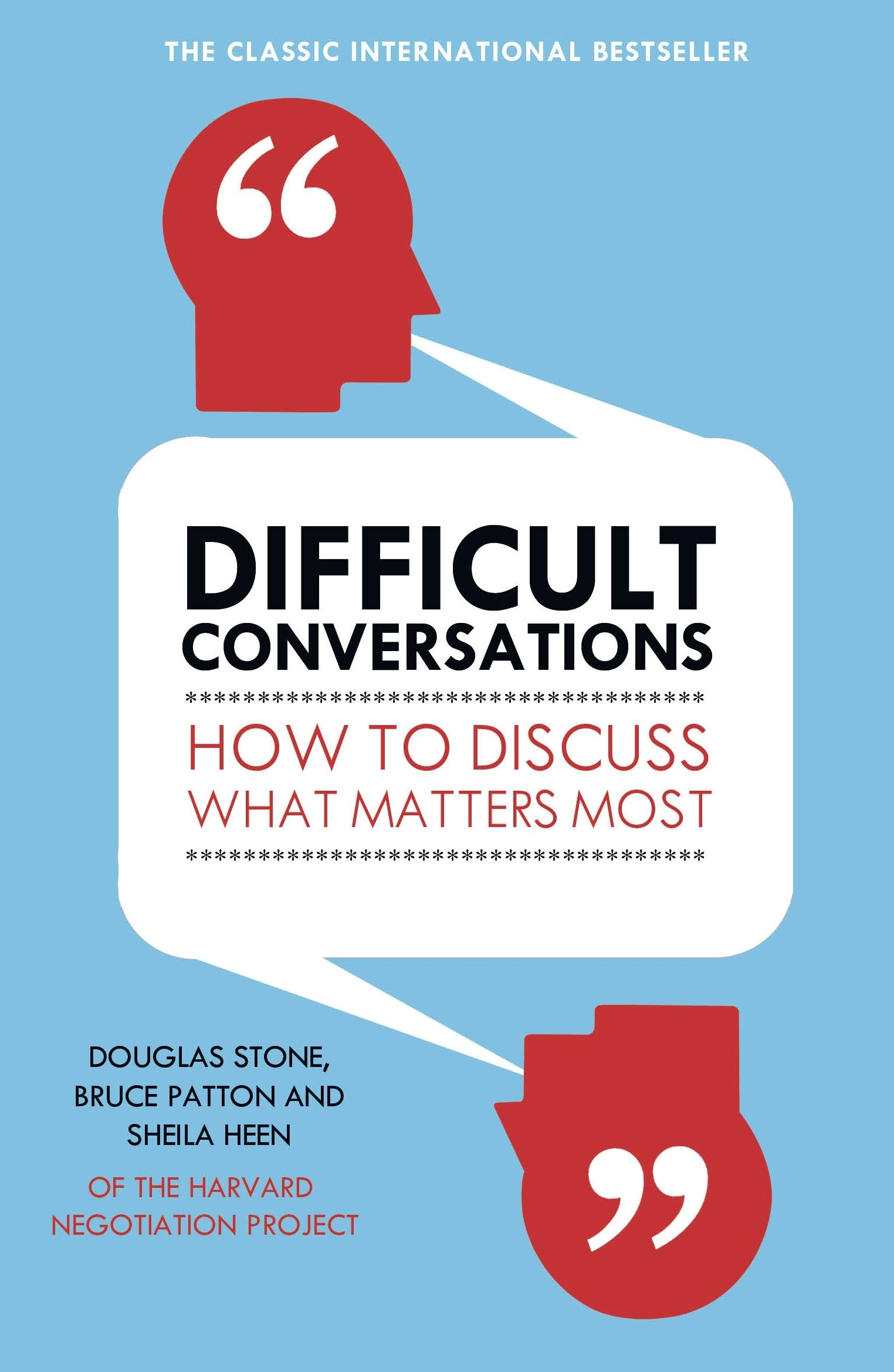 "Sheila Heen's ""Difficult conversations"" about what matters the most."