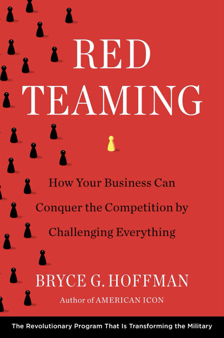 "Book cover of ""Red Teaming"" by Bryce G. Hoffman."