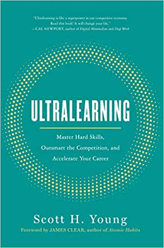 """Cover page of """"Ultralearning"""" by Scott H.Young."""