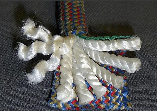 Kernmantle rope.