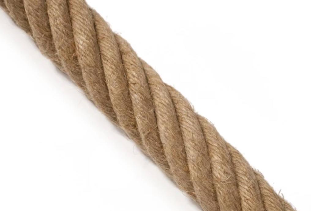 Manila twisted rope.