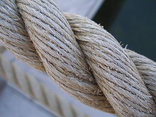 Twisted rope.