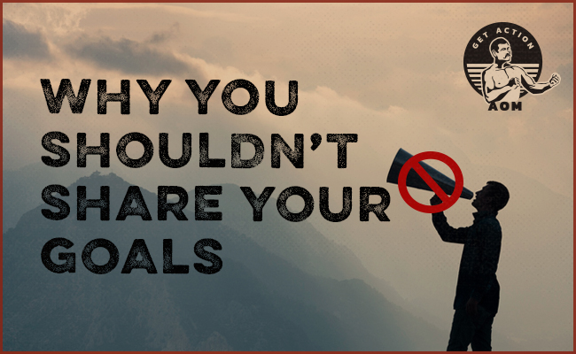 Why You Shouldn't Share Your Goals poster.