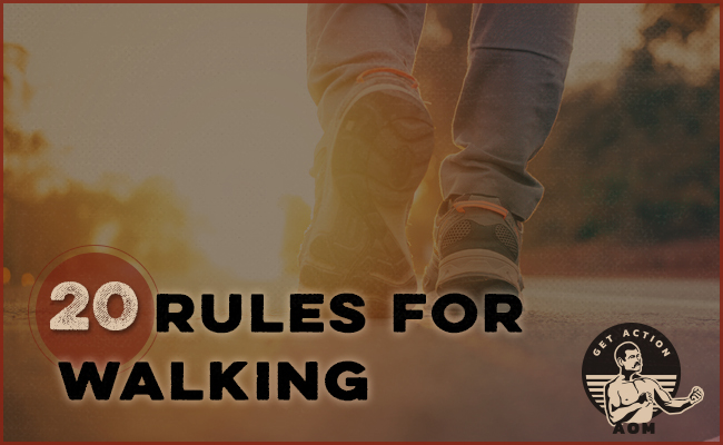 20 rules for walking poster.