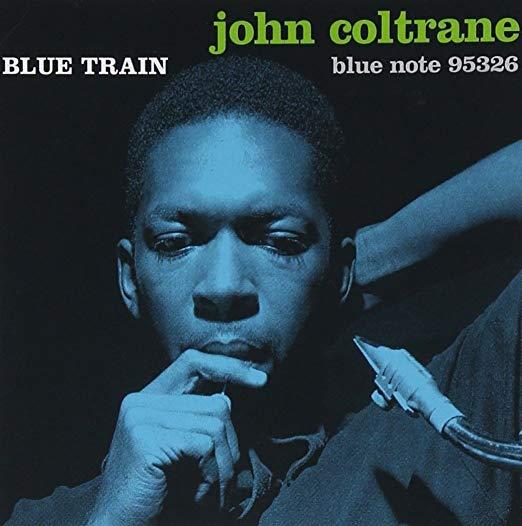 Book cover of Blue Train by John Coltrane.