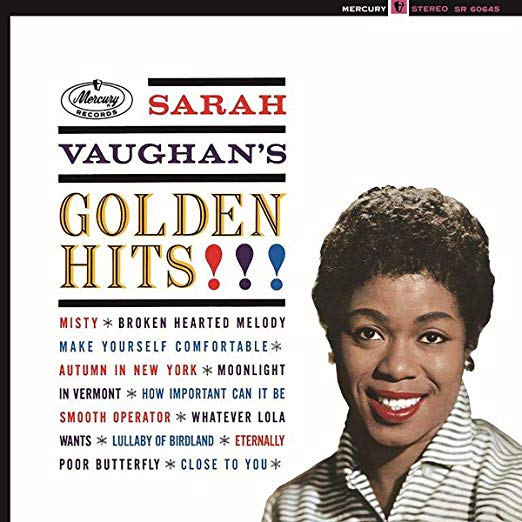 Book cover of Golden Hits! by Sarah Vaughan.