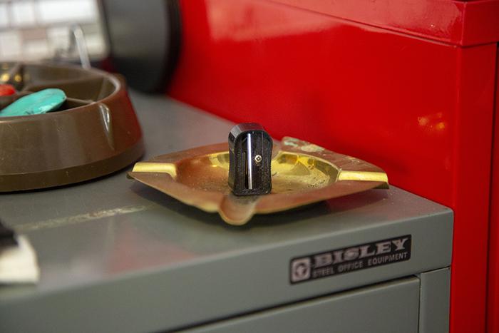 The handheld sharpener.
