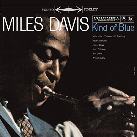 Book cover Kind of Blue by Miles Davis.