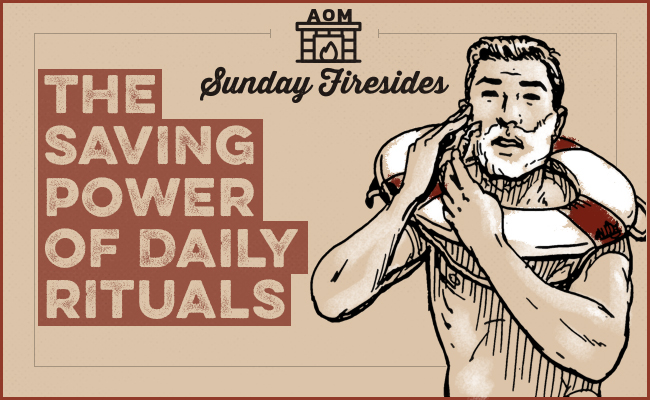 "Poster of ""The Saving Power Of Daily Rituals"" by Sunday Firesides."