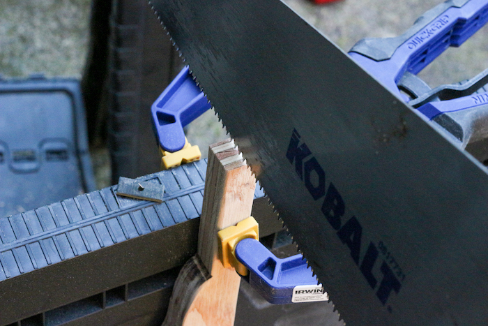 Kobalt's Handsaw used to cut plywood.