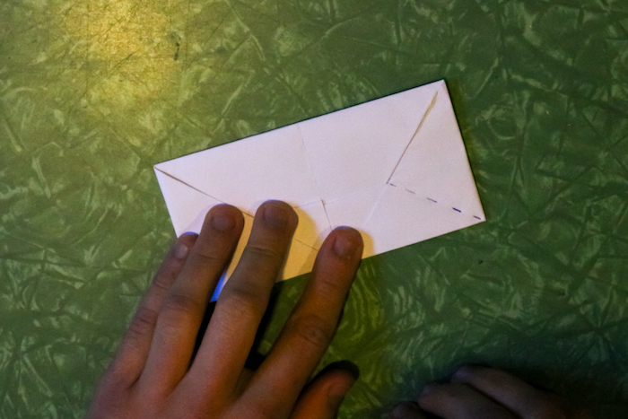 Envelope made with hand.