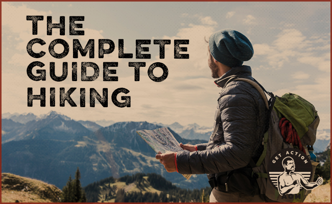 A man holding a map for hiking.