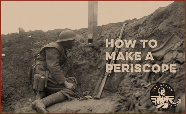 Poster of a soldier for making a periscope.