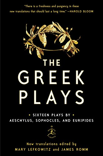 """A book cover of """"The Greek Plays"""" by Aeschylus, Sophocles, and Euripides."""