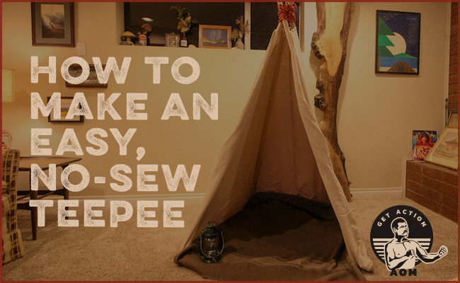 Teepee made in a room.