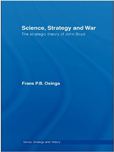 """Book Cover of""""Science ,Strategy and War"""" by Frans P.B Osinga."""