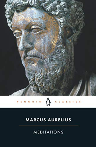 """A cover page of """"Meditations"""" by Marcus Aurelius."""
