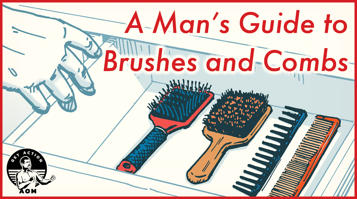 Comic Guide for man's Brushes and combs.